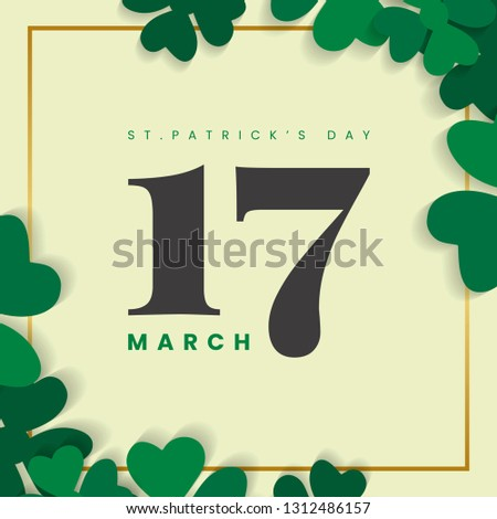 March 17th St.Patrick's Day vector