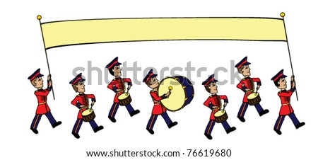 Cartoon Marching Band Marching Band Cartoon Vector