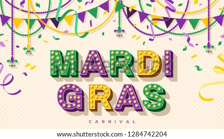 mardi gras banner with