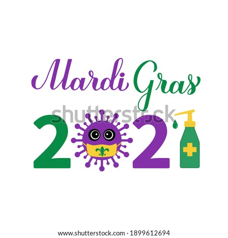 mardi gras 2021 calligraphy