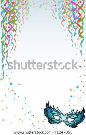 Mardi Gras / Carnival background with copy space