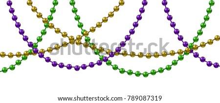 mardi gras decoration with