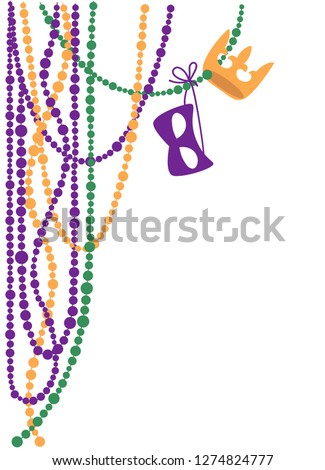Mardi Gras Beads Vector At Vectorified Com Collection Of Mardi