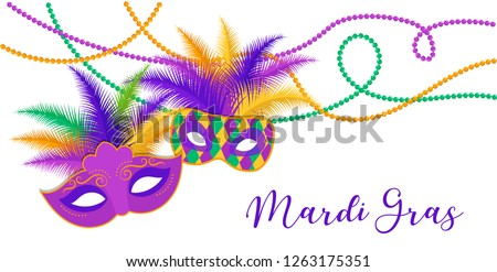 Mardi Gras - Fat Tuesday Carnival celebration template
