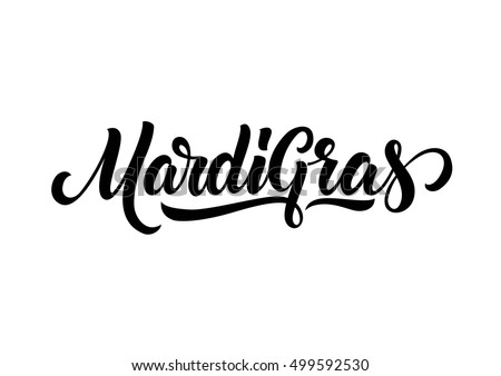 Mardi Gras Lettering Design Stock Vector Illustration ...
