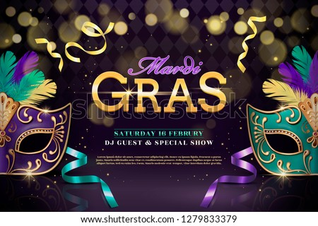 mardi gras party design with
