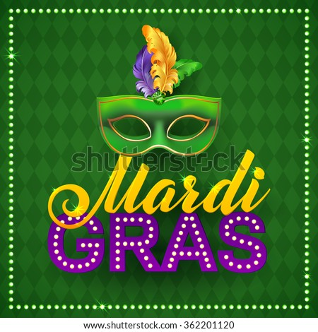 mardi gras party mask poster