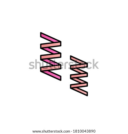 mardi gras  ribbons color