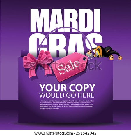 mardi gras sale shopping bag