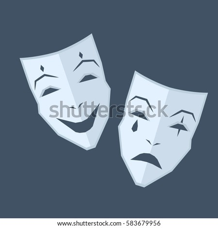 mardi gras two blue masks with