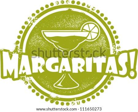 Margarita Cocktail Bar Stamp