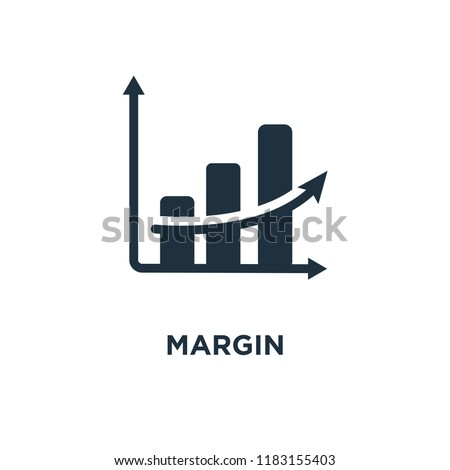Margin icon. Black filled vector illustration. Margin symbol on white background. Can be used in web and mobile. ストックフォト ©
