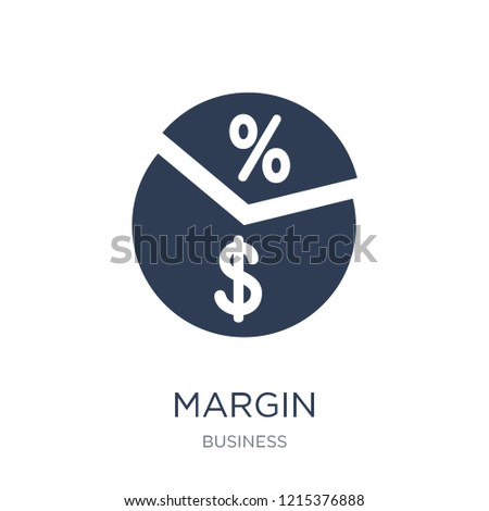 Margin icon. Trendy flat vector Margin icon on white background from Business collection, vector illustration can be use for web and mobile, eps10 Foto d'archivio ©