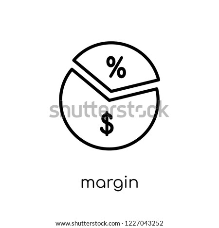 Margin icon. Trendy modern flat linear vector Margin icon on white background from thin line Business collection, editable outline stroke vector illustration Foto d'archivio ©