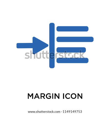 Margin icon vector isolated on white background for your web and mobile app design, Margin logo concept