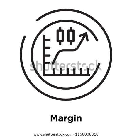 Margin icon vector isolated on white background, Margin transparent sign , sign and symbols in thin linear outline style