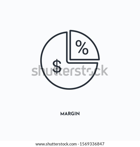 Margin outline icon. Simple linear element illustration. Isolated line Margin icon on white background. Thin stroke sign can be used for web, mobile and UI. Foto d'archivio ©