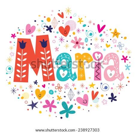 maria female name decorative