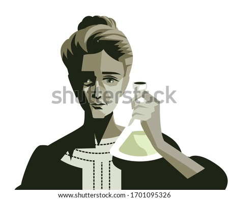 marie curie woman scientific radioactive experiment Photo stock ©