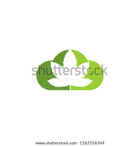 marijuana and cloud logo