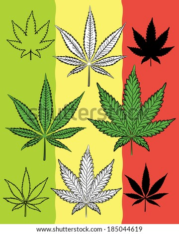 Vector Images Illustrations And Cliparts Marijuana And Weed Leaf