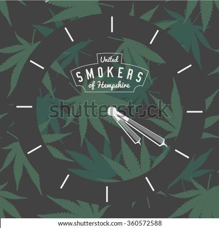 marijuana ganja weed pot clock