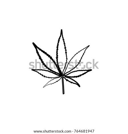 marijuana leaf icon or cannabis
