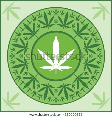 marijuana leaf medal vector