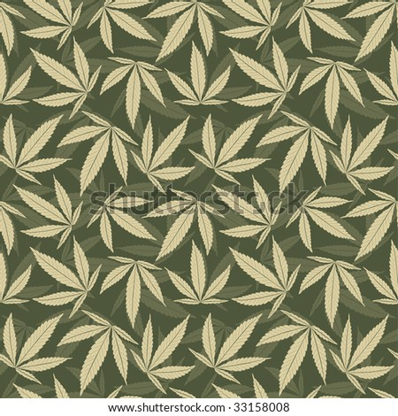 marijuana leaves in one pattern