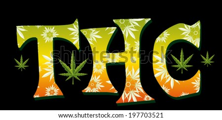 marijuana leaves textured thc