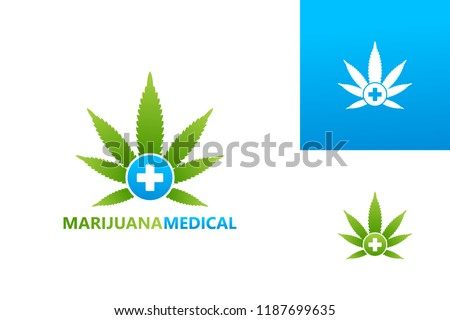 Marijuana Medical Logo Template Design Vector, Emblem, Design Concept, Creative Symbol, Icon