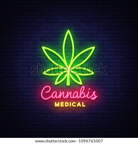 marijuana medical neon sign and