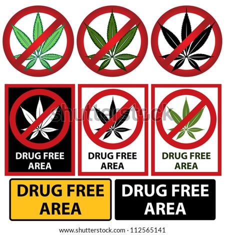Marijuana or cannabis vector sign