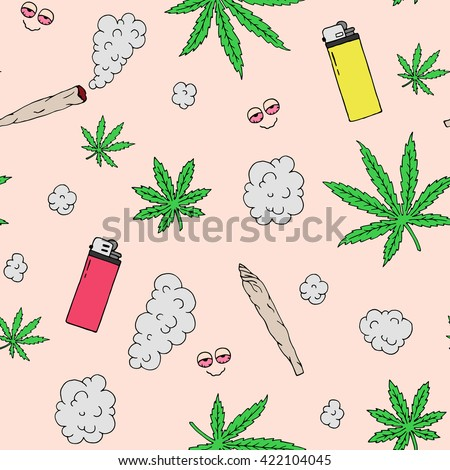marijuana seamless vector