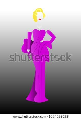 marilyn monroe in pink dressing