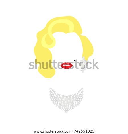 marilyn monroe vector portrait