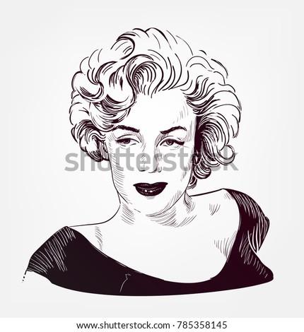 marilyn monroe vector sketch