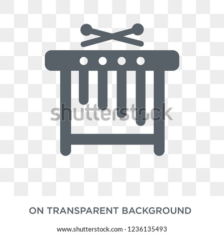Marimba icon. Marimba design concept from Music collection. Simple element vector illustration on transparent background.