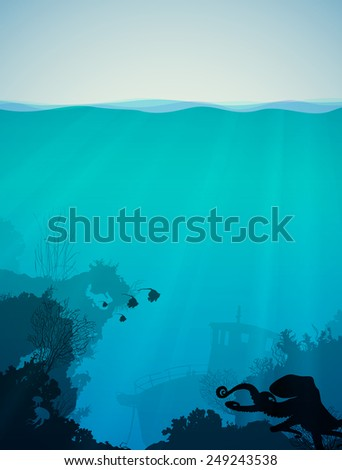 marine background with the
