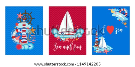 Summer Sailing Invite Template Download Free Vector Art Stock