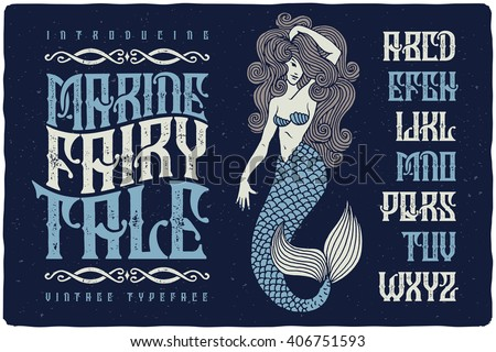 marine fairytale font with