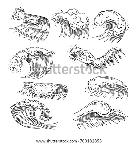 marine illustrations of water