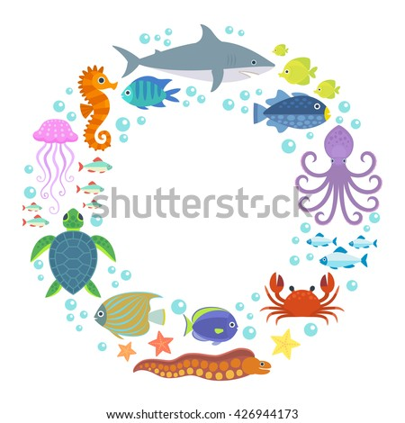 marine life background design