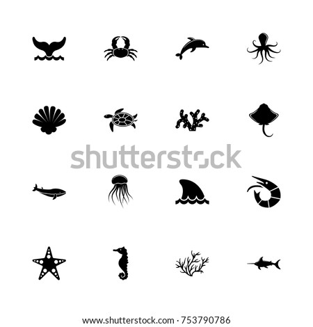 marine life icons   expand to