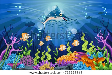 marine life is shining and