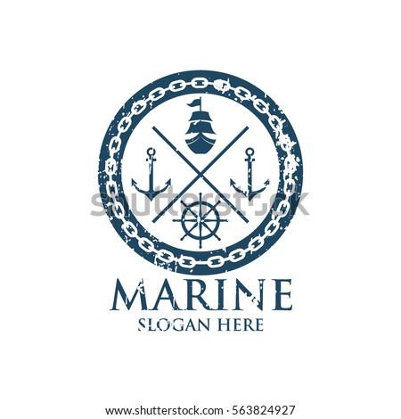 marine oceanic logo design...