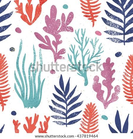 marine plants background....