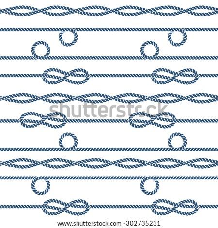 marine rope knot seamless