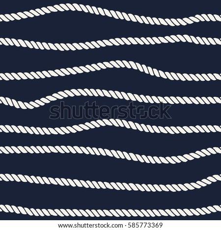 marine rope line seamless