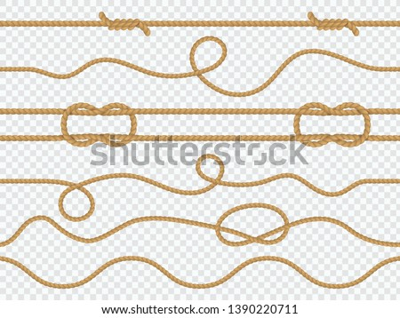 Marine rope seamless. Pattern nautical knot, straight cord marine twine sailing ropes ornament wallpaper template